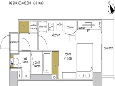 guesthouse sharehouse HEBEL STAY代官山 room203-B2
