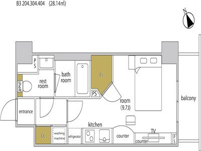 guesthouse sharehouse HEBEL STAY代官山 room204-B3