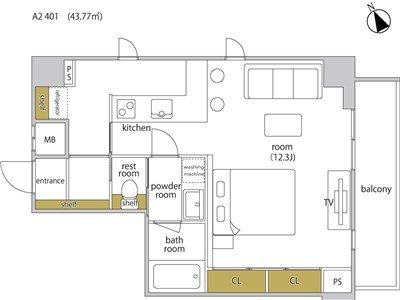 guesthouse sharehouse HEBEL STAY代官山 room301-A2