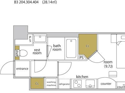 guesthouse sharehouse HEBEL STAY代官山 room304-B3