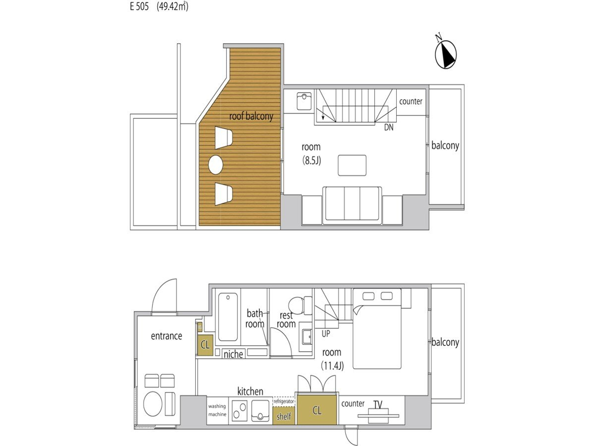 guesthouse sharehouse ヘーベルSTAY代官山 room505-E