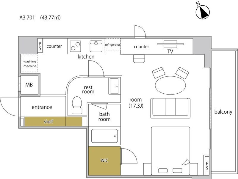 guesthouse sharehouse ヘーベルSTAY代官山 room601-A3